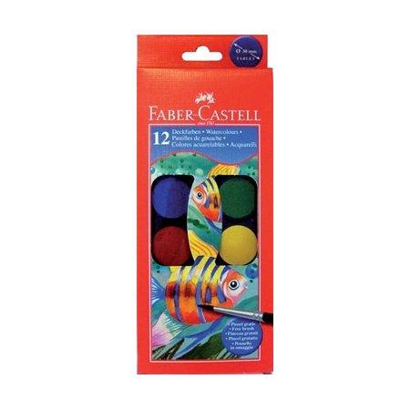 Faber-Castell Vodové barvy 12 barev, 30 mm