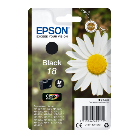Epson Singlepack Black 18 Claria Home Ink
