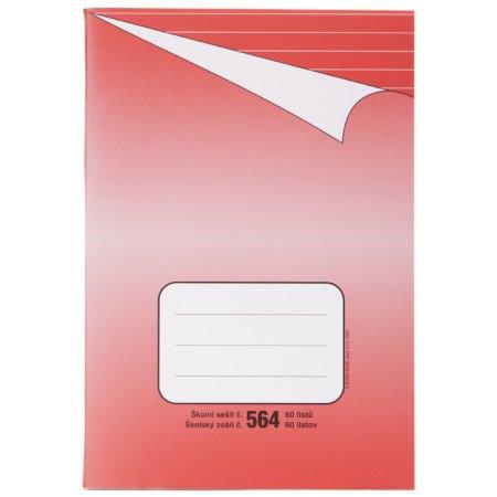 Sešit 564, formát A5, 60 listů, linkovaný