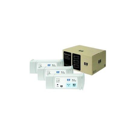 HP no 83 - světle modrý UV ink - 3 pack, C5076A