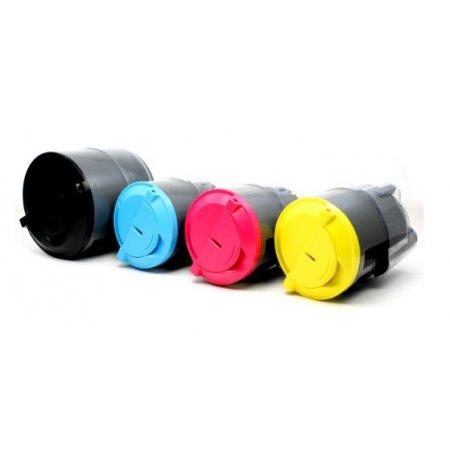 Xerox Phaser 6110 - kompatibilní sada všech 4 barevných kazet + čokoláda milka