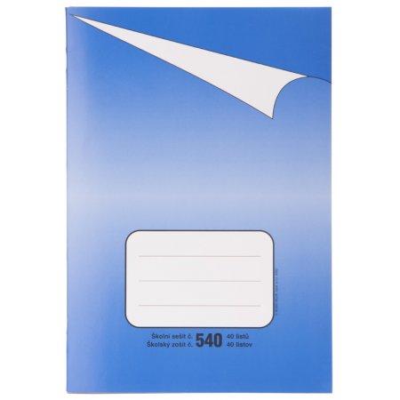 Sešit 540, formát A5, 40 listů bez linek