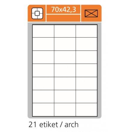 Samolepící etikety SK Label pro laserový a inkoustový tisk 70 x 42,3 mm