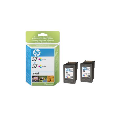 HP 57 - 3barevná ink. kazeta, 2 pack, C9503A