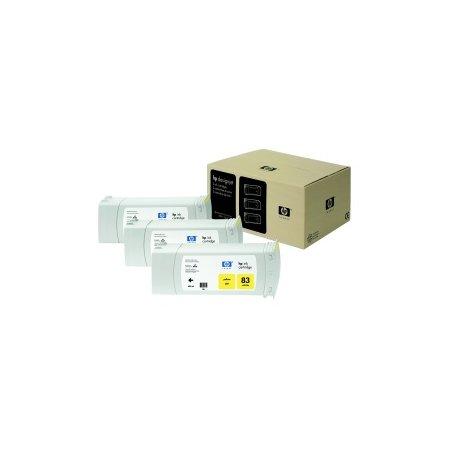 HP no 83 - žlutý UV ink - 3 pack, C5075A