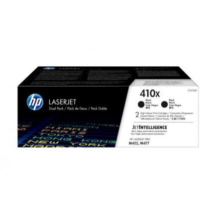 HP 410X tisková kazeta černá velká,CF410XD -2 pack