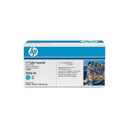 HP tisková kazeta azurová, CE261A