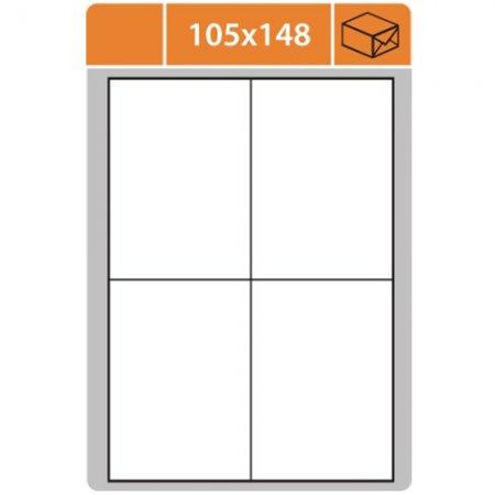 Samolepící etikety SK Label pro laserový a inkoustový tisk - 105x148 mm