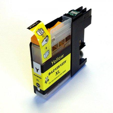Brother LC-123Y - kompatibilní cartridge žlutá s novým čipem