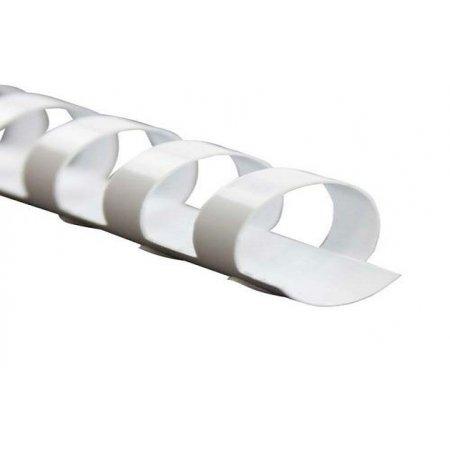 Kroužkový hřbet bílý plast pro vazbu 8 mm, 21-40 listů, 100ks, obr. 1