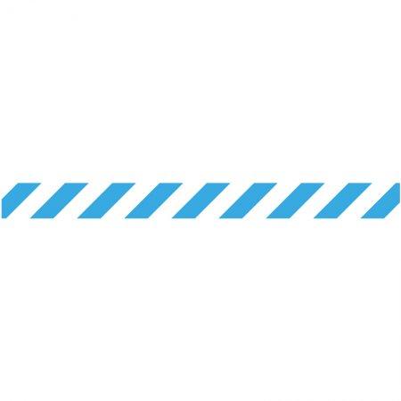 podlahový samolepicí pruh - Diskrétní zóna, 1000 x 90 mm, PVC 450 µ, modrobílý