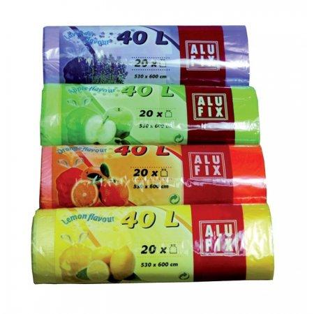 Pytle na odpad 53 x 60 cm, 40l, parfémované, 20ks