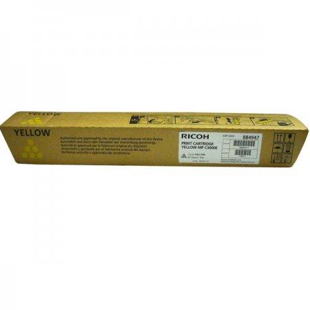 Ricoh 888641, 884947, 842031 originál žlutý, 15000str., Ricoh MPC 2000, MPC 2500, MPC 3000