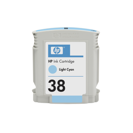 HP 38 - sv.azurová ink. kazeta, C9418A