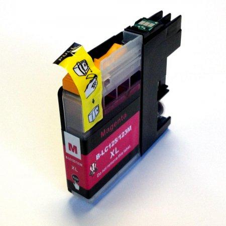 Brother LC-123M - kompatibilní cartridge červená s novým čipem