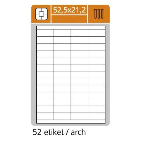 Samolepící etikety SK Label pro laserový a inkoustový tisk - 52,5 x 21,2 mm