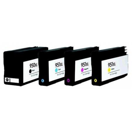 HP CN045A+CN046,CN047, CN048 - kompatibilní sada cartridge 950XL černá+ 951XL CMY barvy + čokoládová tyčinka