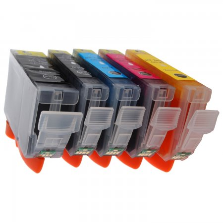 Canon PGI-5 + CLI-8CMYK - kompatibilní multibalení  5-ti cartridge s čipy, Topprint