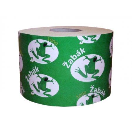 Toaletní papír Žabák, dvouvrstvý bílý, 1000 útržků, 24 roliček
