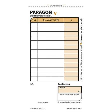 Paragon, samopropisovací číslovaný, 2 x 50 listů