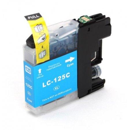 Brother LC125XL C - kompatibilní cartridge modrá, XL kapacita s novým čipem