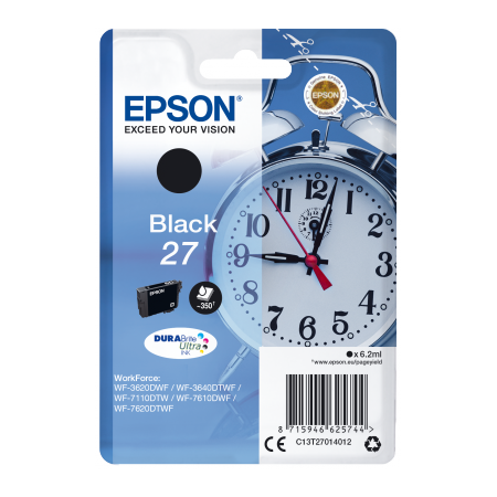 Epson Singlepack Black 27 DURABrite Ultra Ink