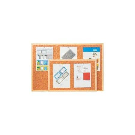 Korková tabule 40x60 cm v dřevěném rámu + montážní sada