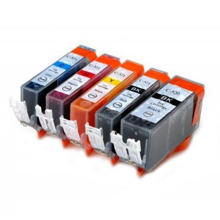 Canon PGI520BK+CLI-521CMYK - kompatibilní MULTIPACK všech 5 barev s čipem Topprint