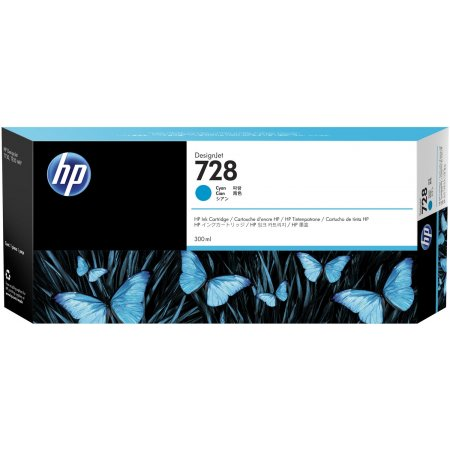HP no 728 300-ml azurová ink. kazeta