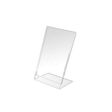 Plexi stojánek typ L, formát A4, orientace na výšku