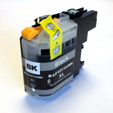 Brother LC-123BK - kompatibilní cartridge černá s novým čipem