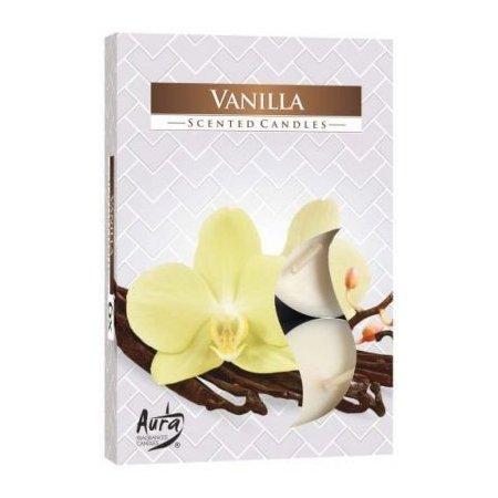Vonná čajová svíčka Vanilka 6 ks v krabičce