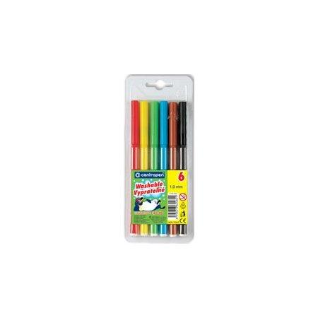 barevné popisovače fixy centropen 7550, sada 6ks