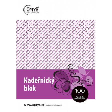 Kadeřnický blok Karbon A5 propisovací