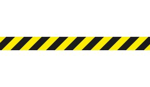 podlahový samolepicí pruh - Ochranná zóna, 1000 x 90 mm, PVC 450 µ, žlutočerný