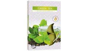 Vonná čajová svíčka Zelený čaj 6 ks v krabičce