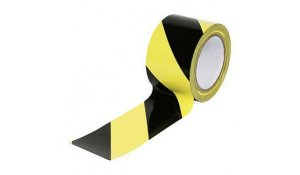 Lepící páska žluto-černá, 50mm x 66m