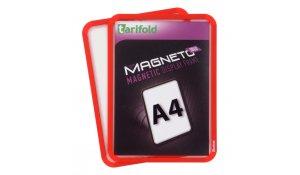 Magneto Solo - magnetický rámeček A4, červený - 4 ks