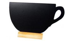 Stolní popisovací tabule ŠÁLEK s popisovačem, dřevěný stojánek