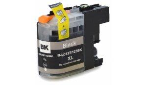 Brother LC127XL BK - kompatibilní cartridge černá, XL kapacita s novým čipem