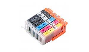 Canon PGI570XL + CLI571XL CMYK - kompatibilní sada 5 barev s novým čipem, XL kapacita