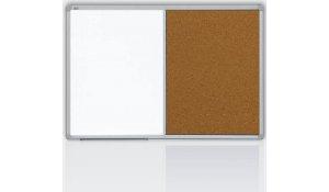 Kombinovaná tabule 120x90 cm magnetická/korek, speciální ALU rám + výbava