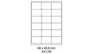 Samolepící etikety Emy - 68x46,8 mm