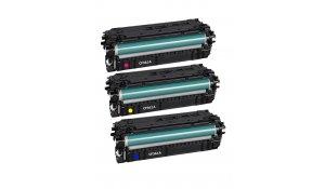 HP CF361A, CF362A, CF363A - kompatibilní sada barev 508A