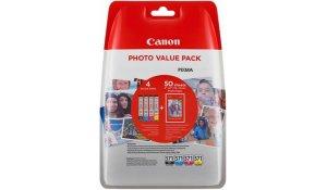 Canon CLI-571XL C/M/Y/BK + 50x PP-201