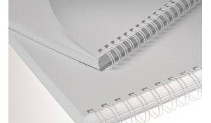 Kovové hřbety bílé 3:1 pro drátěnou vazbu, průměr 8mm, vazba max 50 listů, 100ks