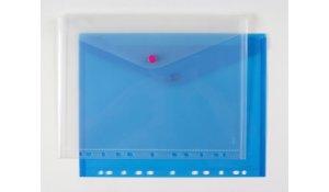 Desky A4 s klopou, drukem a eurozávěsem, modré