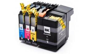 Brother LC-529XLBK, LC-525XLCMY - kompatibilní sada všech barev