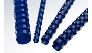 Kroužkový hřbet modrý plast pro vazbu 19 mm, do 160 listů, 100ks