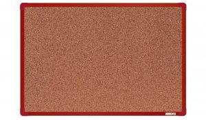 Korková nástěnka boardOK 60x90 cm, červený ALU rám